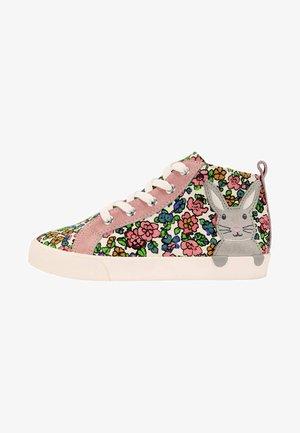 HOCHGESCHNITTENE SCHUHE - Baby shoes - vintage-blumenmuster/häschen