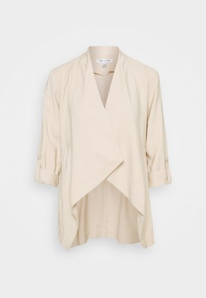 KAT ZIP DETAIL WATERFALL JACKET - Blazer - beige