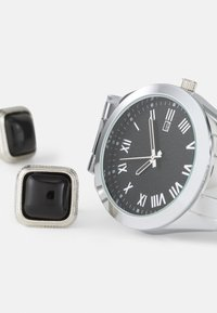 Pier One - Watch Cufflink/Uhr Manschettenknöpfe Set - Hodinky - silver-coloured - 4