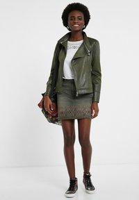 Desigual - BROWARD - Faux leather jacket - green - 1