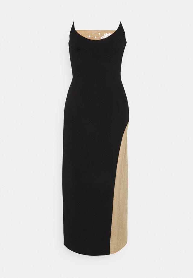 Shift dress - black/beige