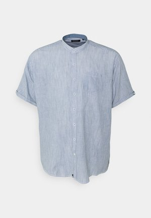 MANDARIN STRIPED SHIRT - Shirt - blue