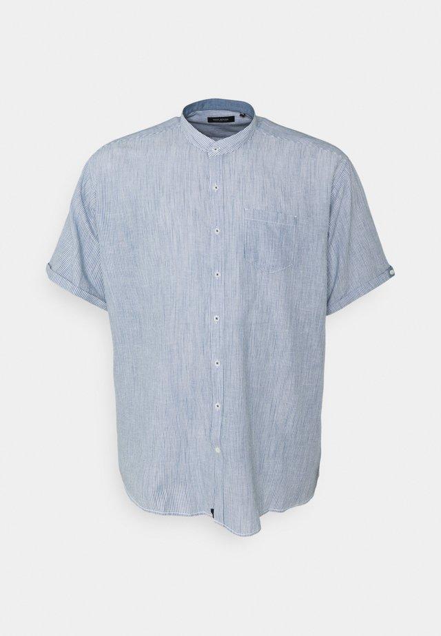 MANDARIN STRIPED SHIRT - Skjorte - blue