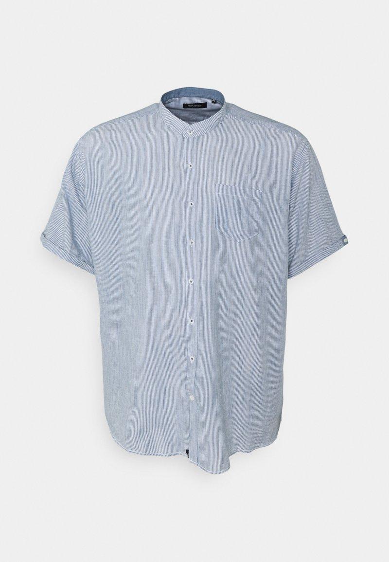 Shine Original - MANDARIN STRIPED SHIRT - Shirt - blue