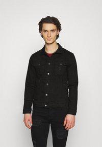 Denim Project - KASH DESTROY JACKET - Denim jacket - black - 0