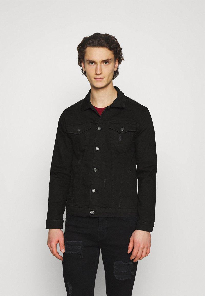 Denim Project - KASH DESTROY JACKET - Denim jacket - black