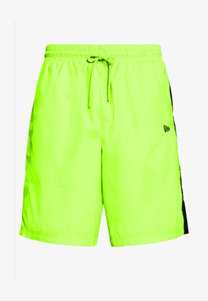 SIDE PRINT - Pantalón corto de deporte - neon green