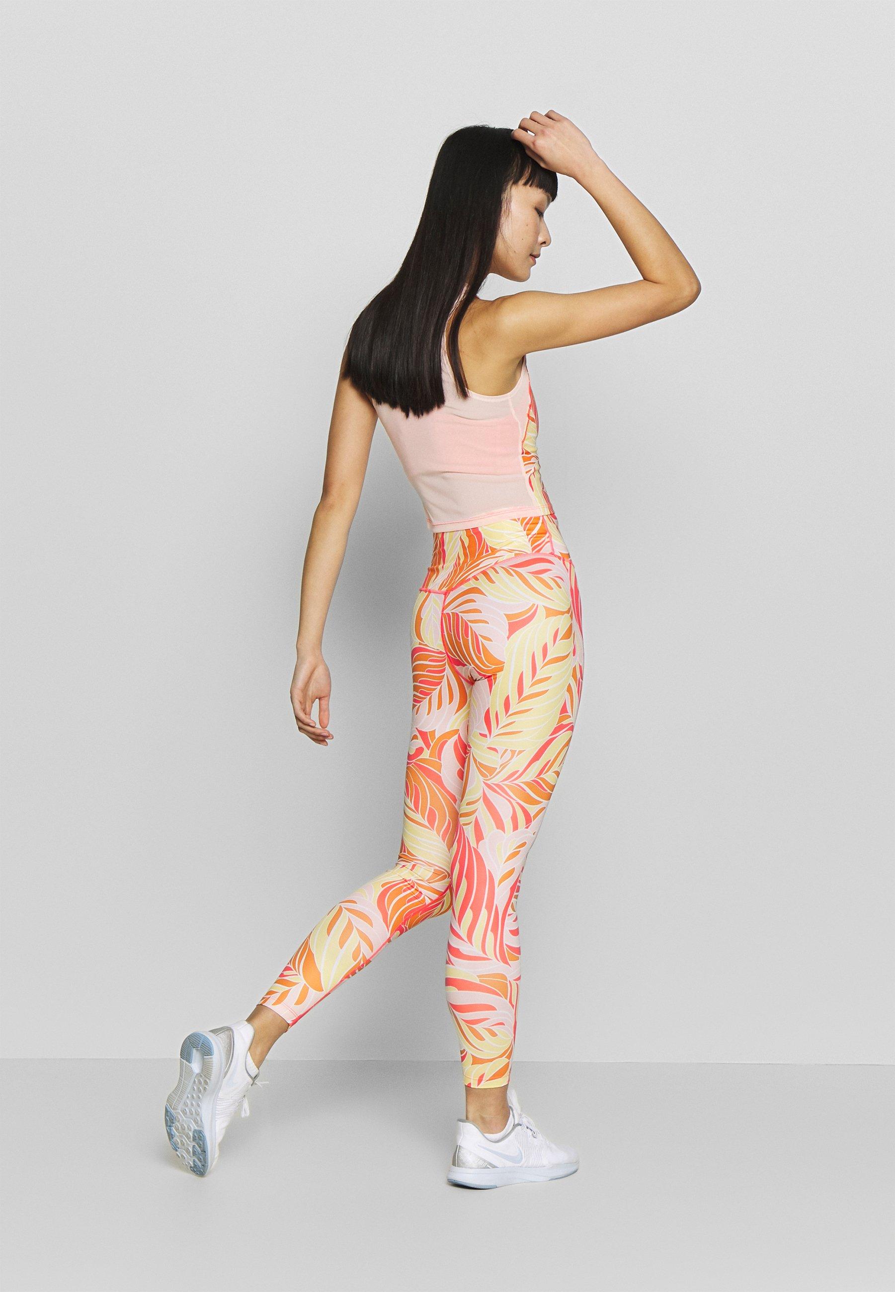 Nike Performance 7/8 PSYCH  - Leggings - laser crimson/white 3rHf8