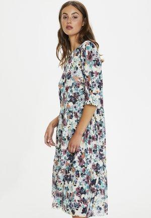Day dress - vivid floral print white