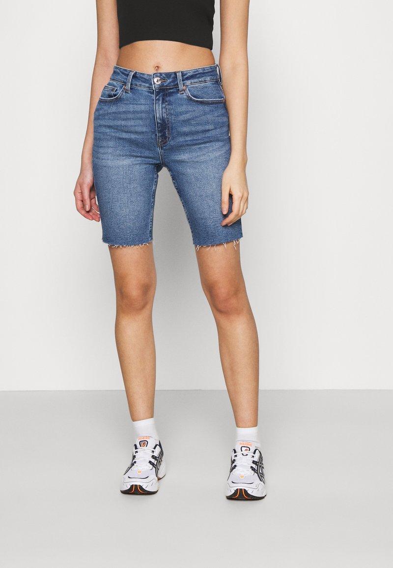 ONLY - ONLERICA LIFE - Denim shorts - dark blue denim
