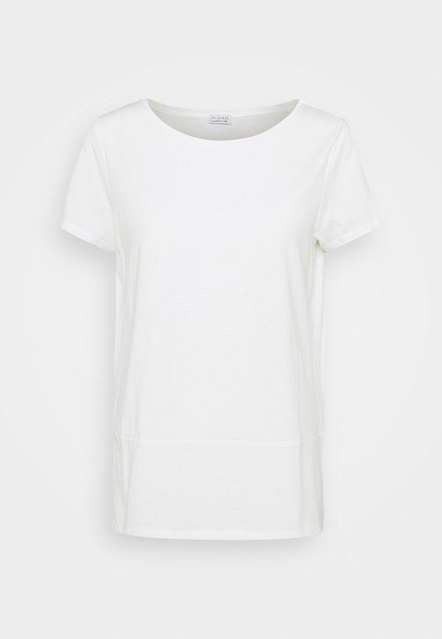 WRAP DETAIL - Camiseta básica - wool white