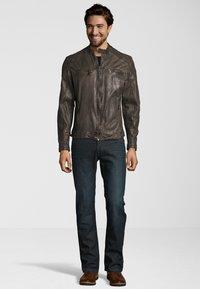 Capitano - Leather jacket - grey - 0