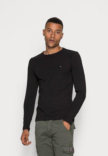STRETCH SLIM FIT LONG SLEEVE TEE - Long sleeved top - black