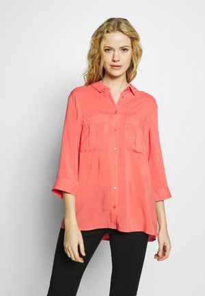 Button-down blouse - dark coral