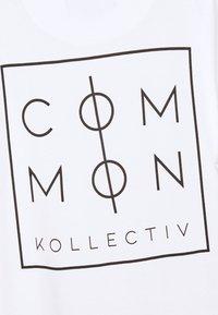 Common Kollectiv - UNISEX ZONE  - T-shirt z nadrukiem - white - 2