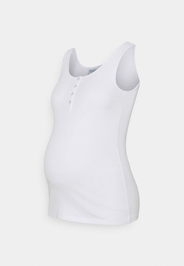 PCMKITTE TANK  - Linne - bright white