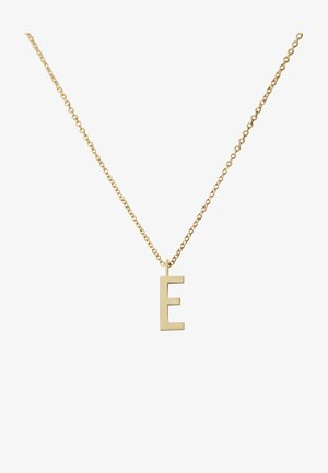 16MM A-Z CHARM WITH 45CM NECKLACE - GOLD - Halsband - gold
