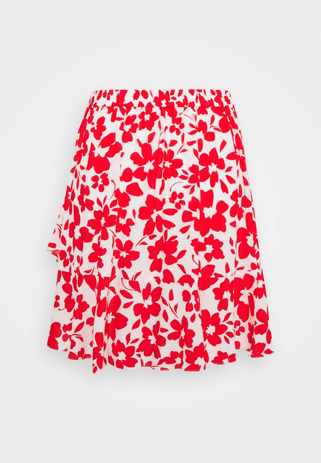 GISELLE RUFFLE SKIRT - Minisukně - ruby silhouette