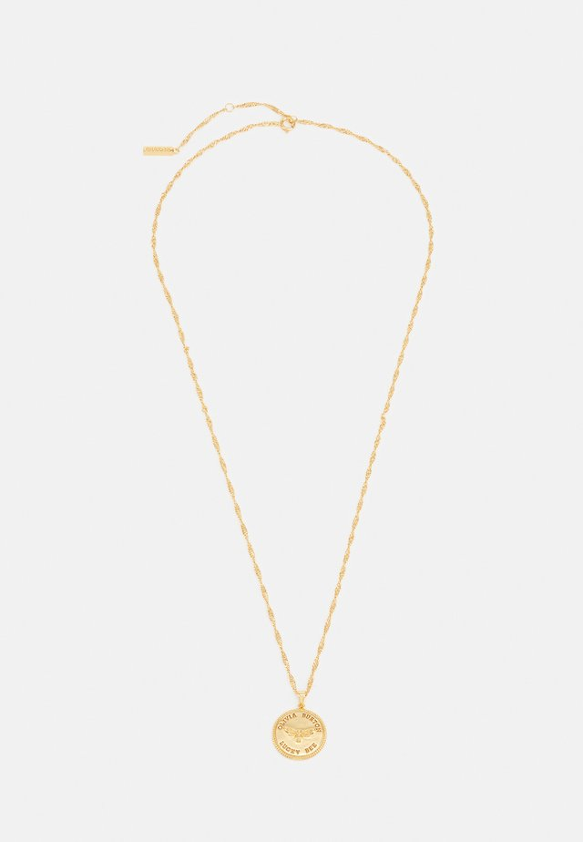 LUCKY BEE COIN PENDANT NECKLACE - Ketting - gold-coloured