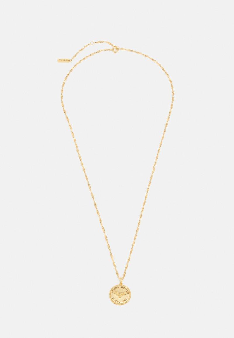 Olivia Burton - LUCKY BEE COIN PENDANT NECKLACE - Necklace - gold-coloured