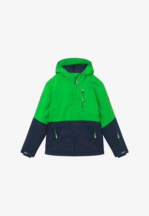 KIDS HALLINGDAL - Snowboardová bunda - bright green/navy