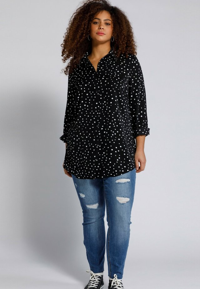 Button-down blouse - zwart