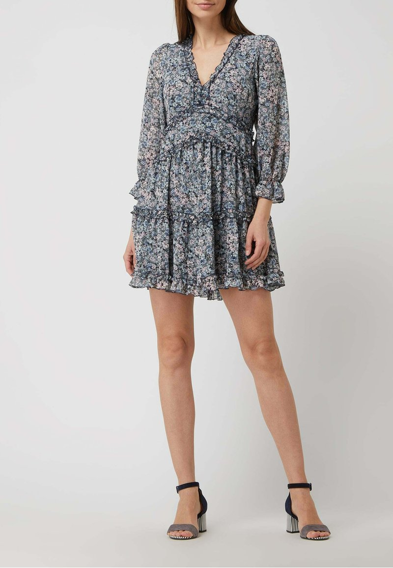 APRICOT - MINI MIT FLORALEM MUSTER - Jersey dress - helltürkis