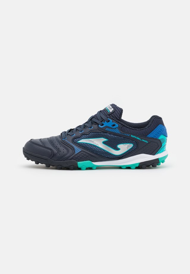 DRIBLING - Astro turf trainers - dark blue/turquoise