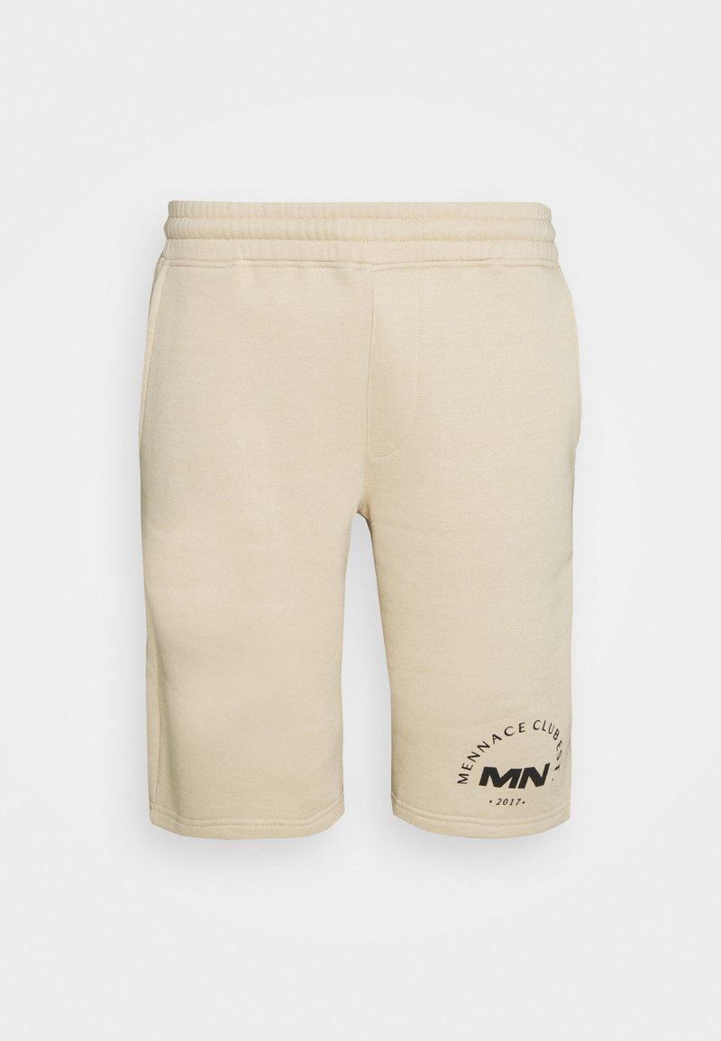 Mennace - MENNACE CLUB UNISEX - Shorts - beige