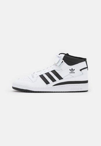 FORUM MID UNISEX - Sneakers hoog - footwear white/core black