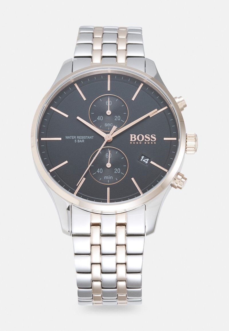 BOSS - ASSOCIATE - Chronograph watch - silver-coloured/black