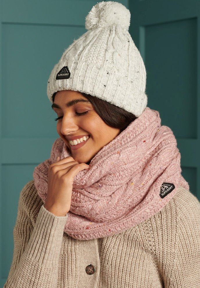Superdry - GRACIE  - Beanie - winter white tweed