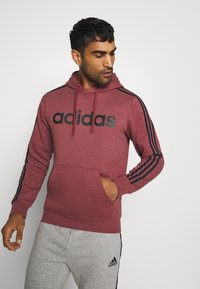 adidas Performance - 3 STRIPES ESSENTIALS SPORTS HOODED - Sweat à capuche - red - 0