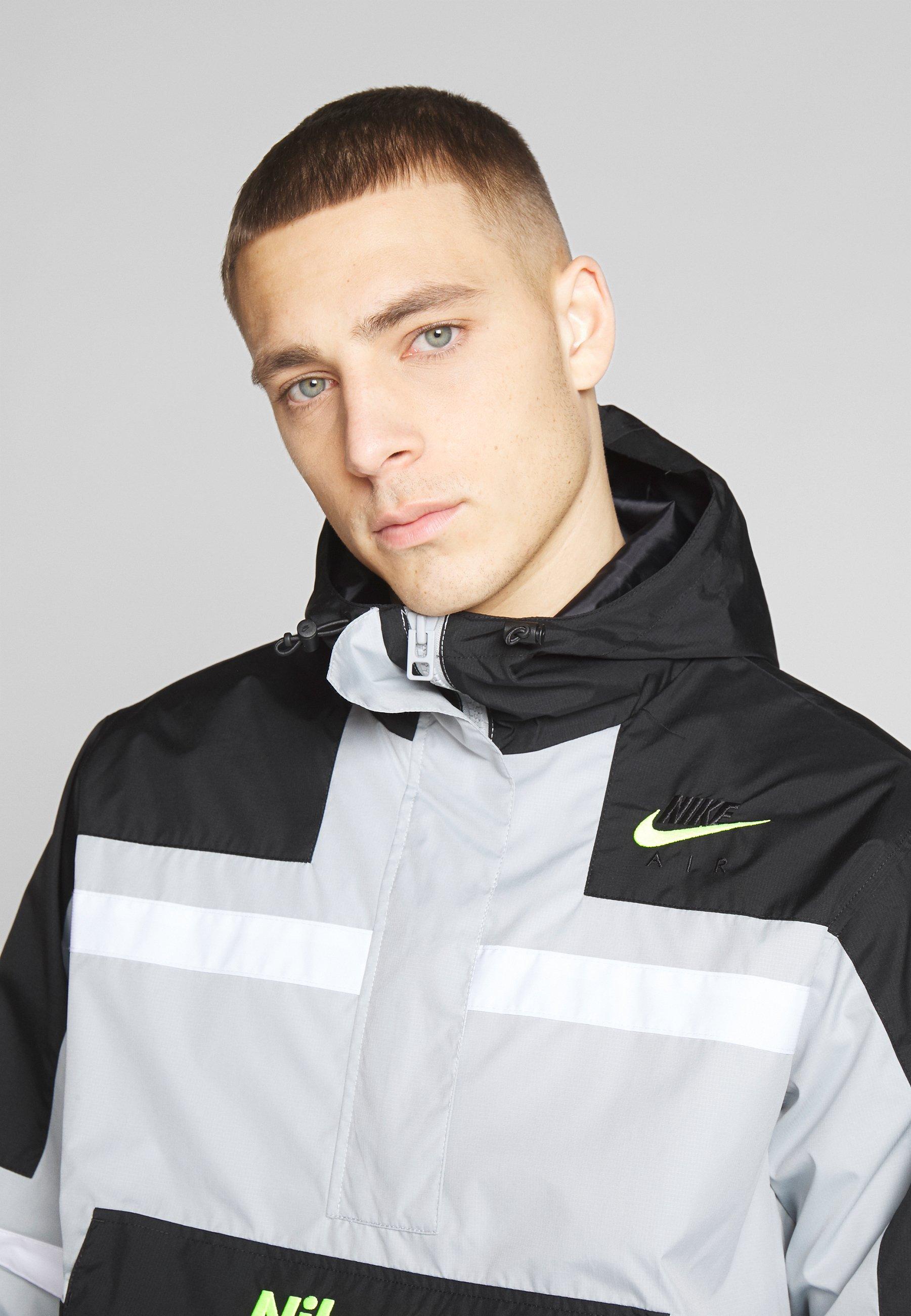 Nike Sportswear M NSW NIKE AIR JKT WVN - Veste coupe-vent - smoke grey/black/white