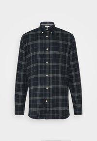 SLHSLIM SHIRT - Skjorta - dark blue/grey