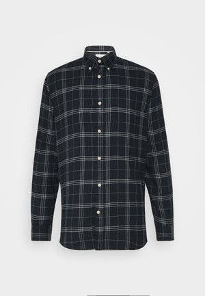 SLHSLIMFLANNEL SHIRT - Skjorta - dark blue/grey