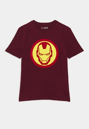 MARVEL CAPTAIN AMERICA BOY SHIELD TEE - Triko s potiskem - red delicious