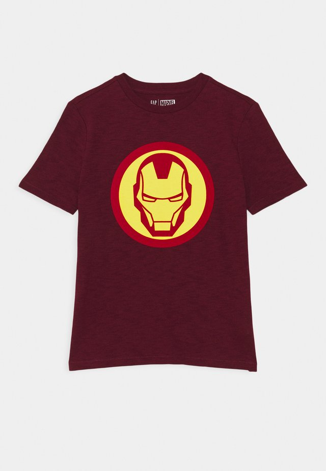 MARVEL CAPTAIN AMERICA BOY SHIELD TEE - Print T-shirt - red delicious