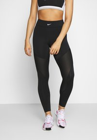 Nike Performance - AEROADAPT - Legging - black/metallic silver - 0