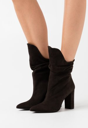 CAMELIE  - High heeled boots - caffee