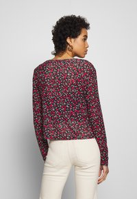 Dorothy Perkins - DITSY PRINT TIE FRONT MESH - Cardigan - red - 2