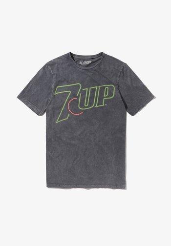 7UP NEON LOGO - Print T-shirt - blau