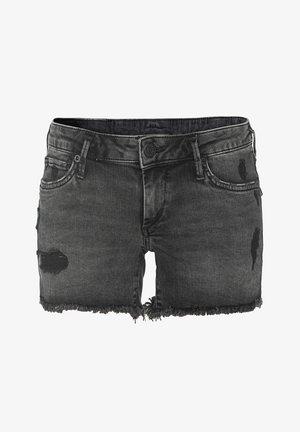 JOEY TRUEFLEX - Denim shorts - schwarz