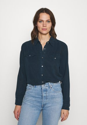 Button-down blouse - petrol