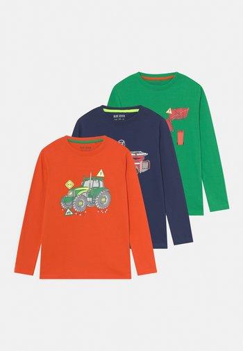 KIDS SMALL BOYS 3 PACK - Langarmshirt - orange/dunkel blau/grün