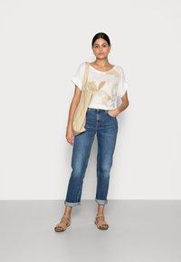 Esprit Collection - FLOWER - Print T-shirt - off white - 1