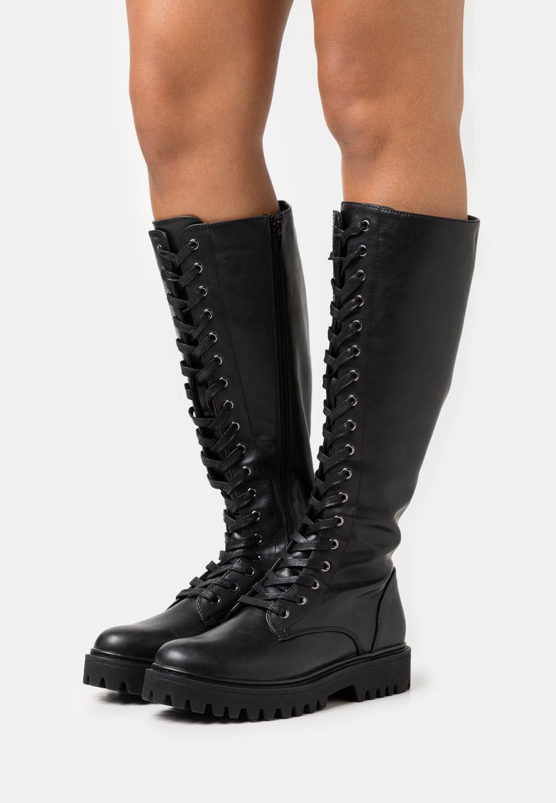 Even&Odd Wide Fit - Platform boots - black