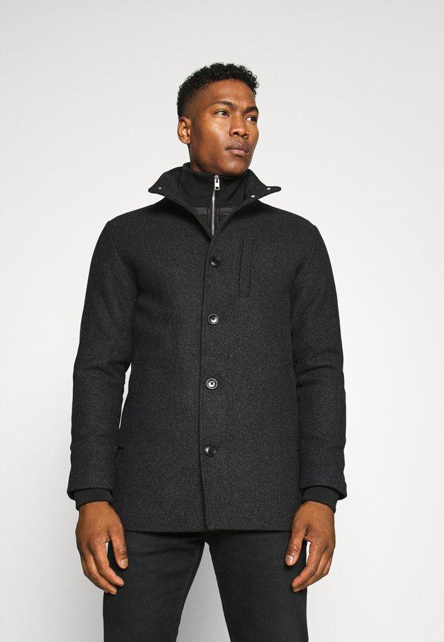 JJDUAL JACKET - Classic coat - dark grey melange