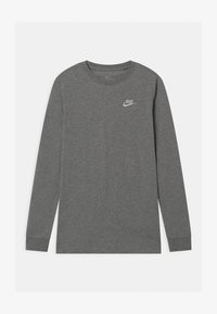 Nike Sportswear - FUTURA UNISEX - Long sleeved top - dark grey heather/white - 0