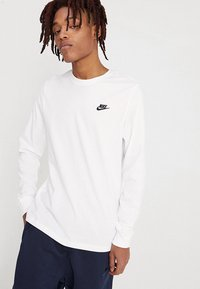 Nike Sportswear - CLUB TEE  - Long sleeved top - white/black - 0